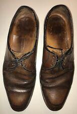 Florsheim Vintage Oxford Dark Brown Dress Shoes Skinny Lace Up  Size 9.5 D
