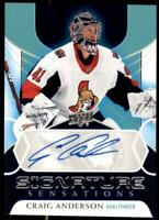 2020-21 UD Series 1 Signature Sensations #SS-CA Craig Anderson - Ottawa Senators
