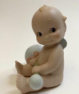 "Jesco Enesco Vintage 1992 Bisque Porcelain Kewpie Toy Rattle Figurine 3"""