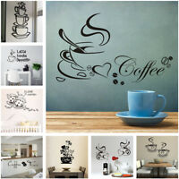 DIY Coffee Cup Wall Sticker Decal Vinyl Art Mural Home Decor Removable 14 Styles