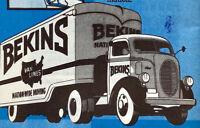 Vintage 1930s Bekins Van Storage Moving Packing Household Hints Booklet Brochure