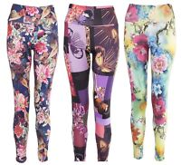 Women Stretchy Floral Printed Leggings Ladies Slim Colored High Quality Trousers