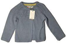 Boden Blue Gray Girls Cardigan 6-12 Months