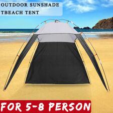 US 5-8 Person Portable Beach Canopy Anti-UV Sun Shade Triangle Tent Shelter Camp