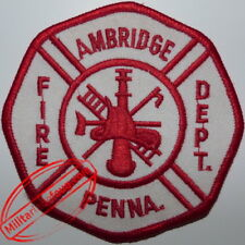 Patch de pompier ville d'Ambridge Pennsylvania Fire Department