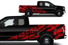 Vinyl Decal Graphics F-150 SHREDS Wrap Kit for 15-17 F-150 RED Supercab 6.5 Bed