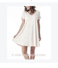White- Charlie's Project Bamboo Swing Dress- M-  Ship FREE