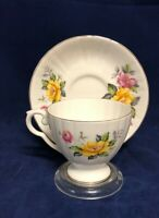 Vintage Royal Grafton Bone China Made in England Tea Cup and Saucer Set
