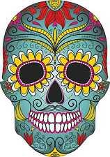 Blue Sugar Skull esterno in vinile auto Adesivo Decalcomanie Messicano Giorno dei Morti