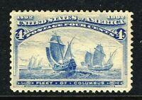 [MC4]   US #233 MNH 1893 Classic 4c 'Columbian Exposition' Stamp...Ships Free!