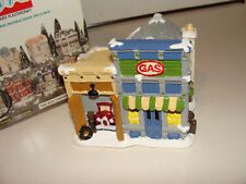 California Creations Christmas Village Hand Painted Service Gas Station SE 196