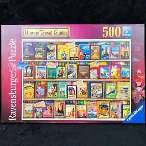 "RARE Ravensburger ""Vintage Travel Guides"" Aimee Stewart 500pc Jigsaw Puzzle"