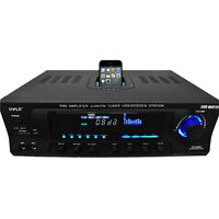Pyle PT270AIU 300W Stereo Receiver W/ iPod Dock AM/FM Tuner USB SD Input