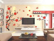 Large Plum Blossom Flower Tree Wall Stickers DIY Art Decal Room Decor Mrual PVC