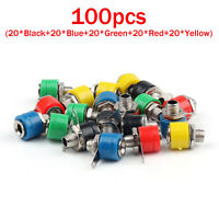 100 Pcs 4mm Banana Socket For Binding Post Banana Plug Connector