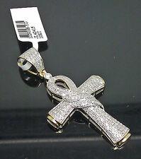 10K Yellow Gold Unique Diamond Ankh Charm With 0.65CTW /Jesus, Cross, Angel