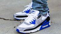 Nike Air Max 90 White Grey Blue CD0881-102 Running Shoes Men's Multi Sizes NEW
