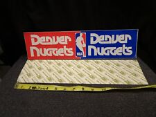 DENVER NUGGETS BUMPER STICKER 1970'S LARGE WITH BACKING RARE!