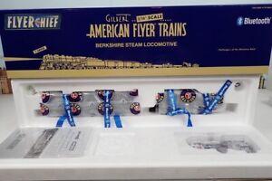 "American Flyer ""Flyer Chief"" S Gauge No.6-44021 NPR Berkshire Steam Engine NIB"