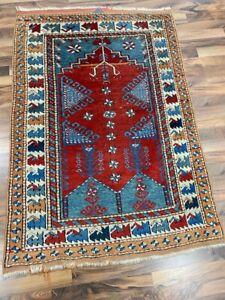 ✔ Türkei | 100 x 135 | Handgeknüpft | Orientteppich | Carpet | Rug