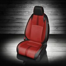 KATZKIN BLK & RED LEATHER SEAT CVRS FITS 2016-2019 HONDA CIVIC 2DR COUPE LX EX-T