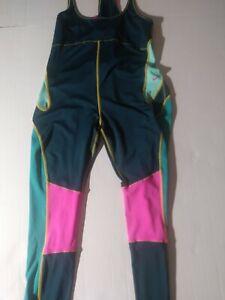 Sz XL Nike Women's Best Bib Tights BQ8304-304 Nightshade Tropical Twist Cycling