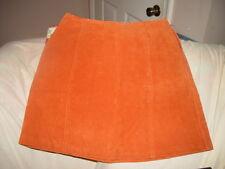 Kathy Ireland Genuine Leather Rust Skirt Size 6