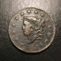 1816 Matron Head Large Cent VF Very Fine Middle Date EAC Coronet 1c