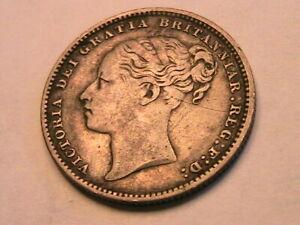 1884 Great Britain Victoria 1 Shilling Ch VF+/EF Original Toned Silver UK Coin