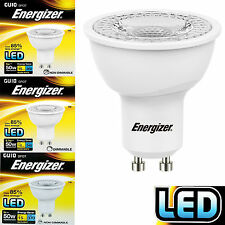 Energizer LED GU10 Daylight/Warm White 5w 50w Dimmable Energy Saving Light Bulbs