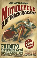 A1 Size Print -poster  for your frame motor bike racing vintage cafe racers
