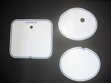 Number Backgrounds Suzuki RM 125 250 1981-1983 WHITE RM125 RM250