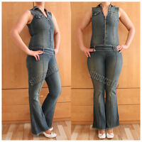 Jean'us Jeansoverall Gr. 38 Catsuit Jumpsuit blau stretch (#1503)