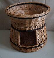 Wicker willow round 2 tier bunk baskets bed for pet cat kitten dog puppy rabbit