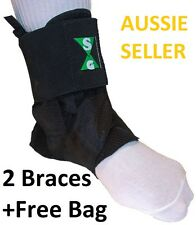 ASO ANKLE BRACES 'in STYLE' -2 (A PAIR) SIZE LARGE with FREE CARRY BAG