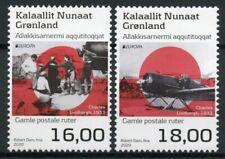Greenland Europa Stamps 2020 MNH Ancient Postal Routes Lindbergh Aviation 2v Set