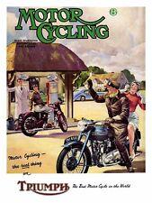 Triumph Motor Cycling, Retro Vintage Aluminium Sign Man Cave, For Gift, Garage