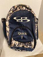 Boombah Bat Bag. Blue With Digital Camo. Dual bat bag. Used