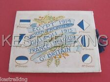 WW1 Parkhouse AASC Training Camp Depot AIF 1917 Greeting Card Colour Patches