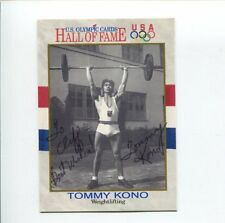 Tommy Kono US Olympic Gold Silver Weightlifter Signed Autograph Photo Card