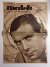 HEBDOMADAIRE SPORTIF MATCH L'INTRAN N°599 9 NOV 1937 MAURICE ARCHAMBAUD