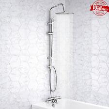 Grifo Mezclador de ducha termostático de Baño con Cuadrado 3 vías rígido Riser Kit de rieles * H