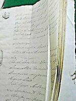 REGNO DELLE DUE SICILIE CORPOSO ANTICO MANOSCRITTO 28 FACCIATE SIGILLO GRAF.1800