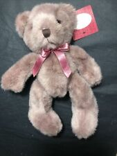Russ Bear Hugs Mauve Fur And Corduroy Feet 10� New Very Soft Fur Great Gift