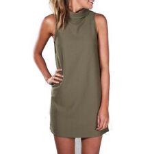 Womens Summer Sleeveless Blouse Tops Party Vest Shirt Casual Beach Mini Dress