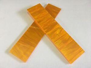 """KIRINITE: Orange Pearl/Solar Flare 1/8"""" 6"""" x 1.5"""" Scales for Wood Working, Knife"""