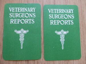 TOTOPOLY VETERINARY SURGEON REPORT CARDS,VINTAGE 1949,WADDINGTON