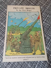 WWII Postcard Private Breger And My Mother Never Even Allowed Me to Have a vtg