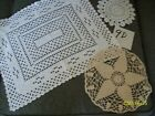 HAND+CROCHETED+DOILIES+LOT+OF+3+-+GROUP+9D