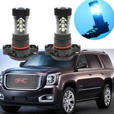 2x 80W Power 8000K Ice Blue LED Fog Lights Driving Bulbs For GMC Yukon 2007-2015